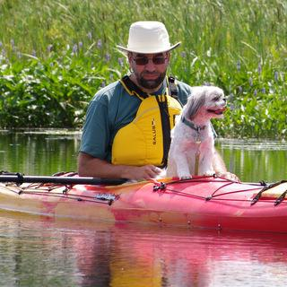 Kayaking with Rufus